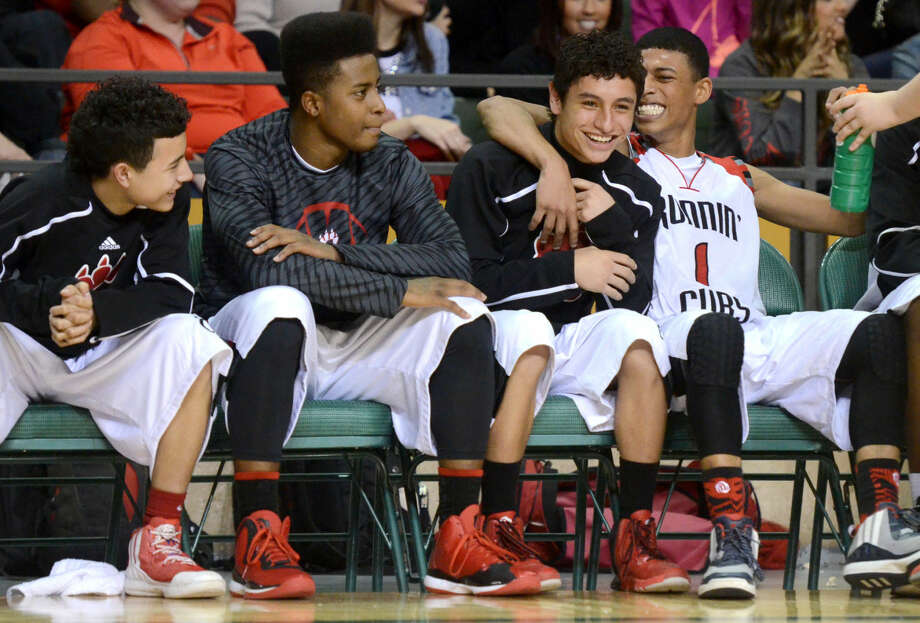 Brownfield players react as they lead Wall in the final minuets of play Friday, March 6, 2015 at Chaparral Center. James Durbin/Reporter-Telegram Photo: James Durbin