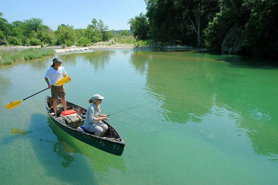 Clear, cool water from spring-fed origins, abundant shade, wonderful scenery, a plentitude of fish make the Blanco River on the eastern edge of the Texas Hill Country a treasure float-fishing anglers able to access the waterway. Houston Chronicle/ Shannon Tompkins Photo: SHANNON TOMPKINS