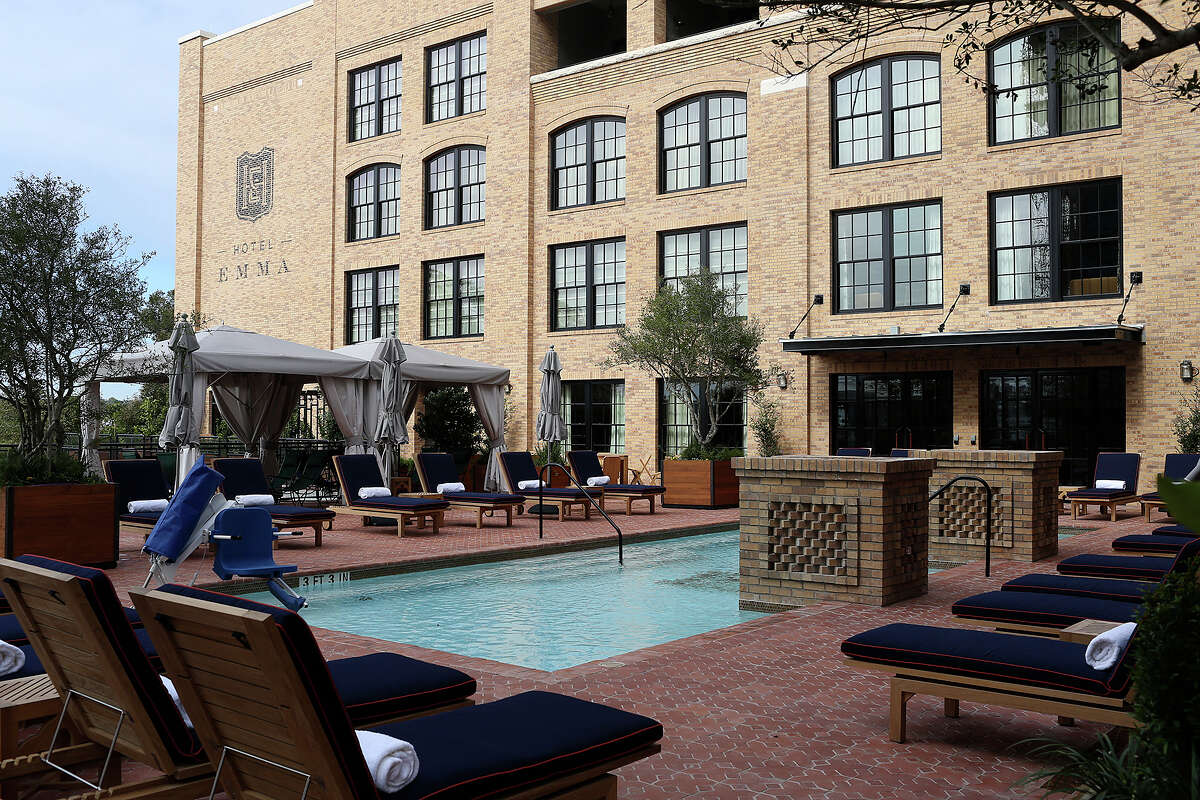 A view of the swimming pool at Hotel Emma, San Antonio.