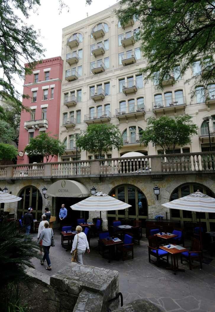Exterior view of Ostra, the signature restaurant at the Mokara Hotel & Spa.