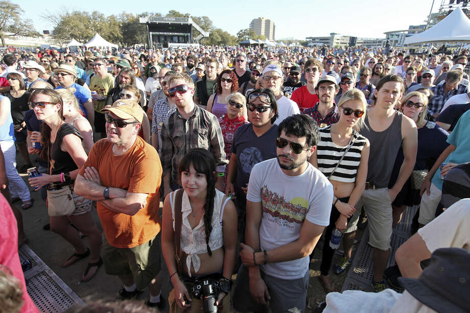 Crowds listen to Steve Earle perform at Auditorium Shores during South by Southwest Saturday March 16, 2013 in Austin, TX. Photo: Edward A. Ornelas