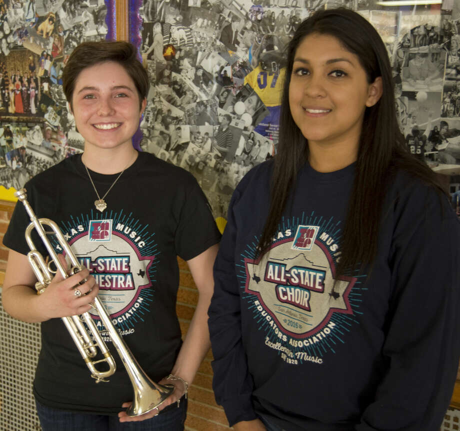 Midland High's Abby Barto on trumpet and Crystal Jaquez, alto 1 choir, were awarded All-State honors. Monday 02-29-16 Tim Fischer/Reporter-Telegram Photo: Tim Fischer
