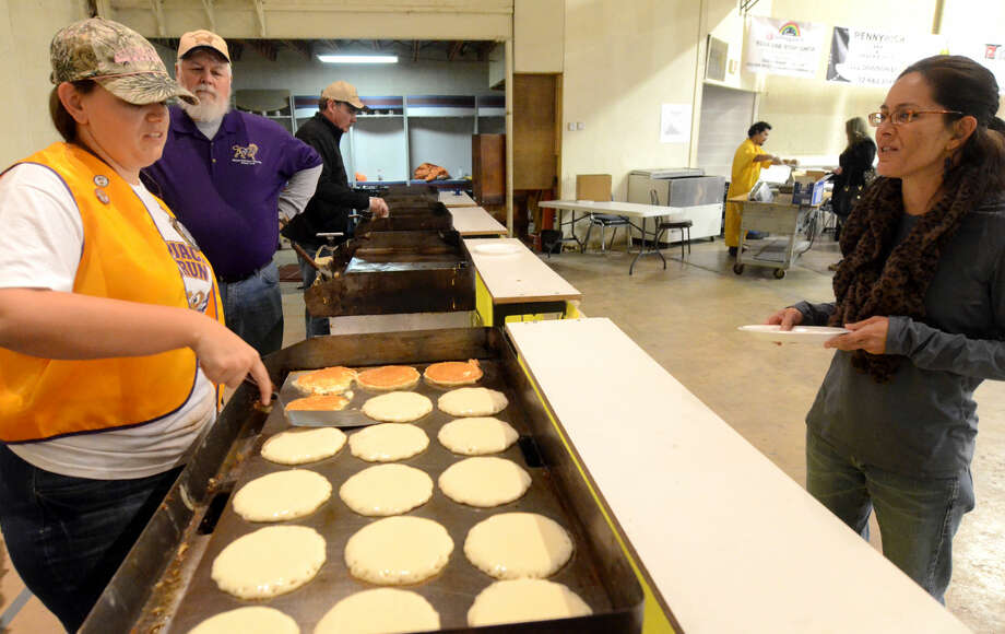 Midland Downtown Lions Club 59th annual Pancake Jamboree on Satuday, Feb. 28, 2015 at the Lions Club building on Plaza Street. James Durbin/Reporter-Telegram Photo: James Durbin