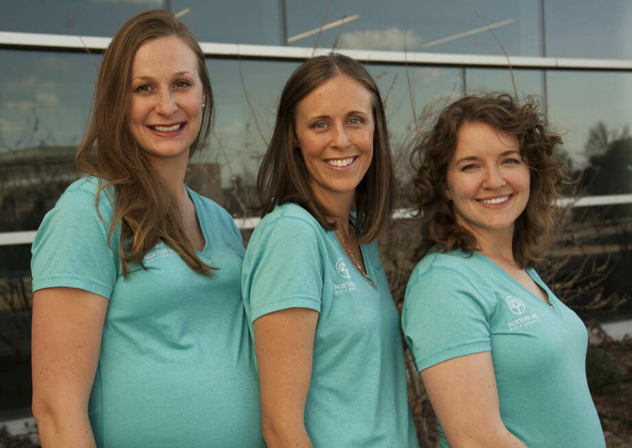 Courtney Luoma, Brooke Ellington and Jenny Townsend formed Nurture Me Birth Services. Tim Fischer\Reporter-Telegram Photo: Tim Fischer