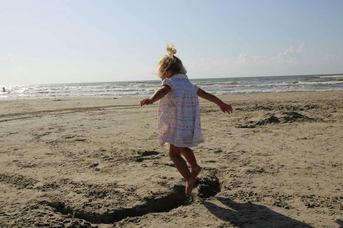 Port Aransas' beaches make for the ultimate toddler sandbox.