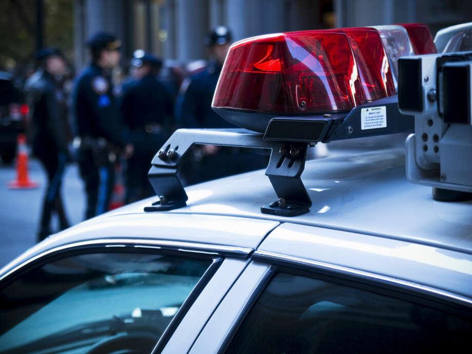 This ThinkStock file photo shows the lights on a police car. Photo: Antonprado
