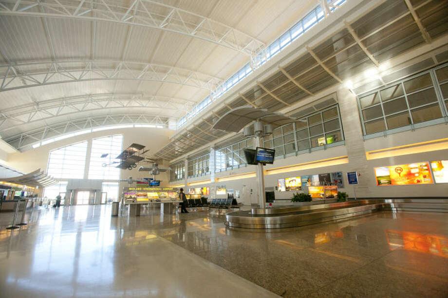 Interior view of the baggage claim at Midland International Airport, Feb. 13, 2014. James Durbin/Reporter-Telegram Photo: JAMES DURBIN