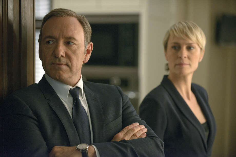 """This image released by Netflix shows Kevin Spacey as Francis Underwood, left, and Robin Wright as Clair Underwood in a scene from """"House of Cards."""" Photo: Nathaniel E. Bell"""