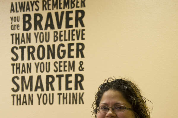 One of the 52 Faces of Our Community, Jessica Brooke Sosa,volunteers at the Rape Crisis Center. Tuesday 02-02-16 Tim Fischer/Reporter-Telegram