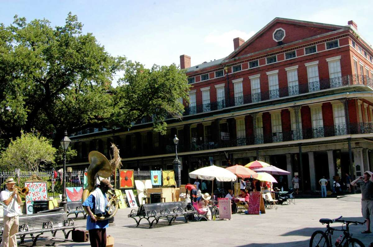 People-watching is a favorite pastime in Jackson Square in New Orleans.