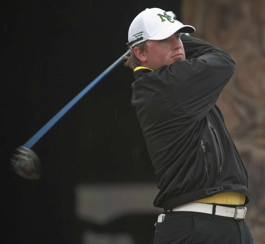 Midland College's Lucas McCubbin follows his tee shot Tuesday, 3-17-15, during the second day of the Omega Treating Chemicals Invitational at Greentree Country Club. Tim Fischer\Reporter-Telegram Photo: Tim Fischer