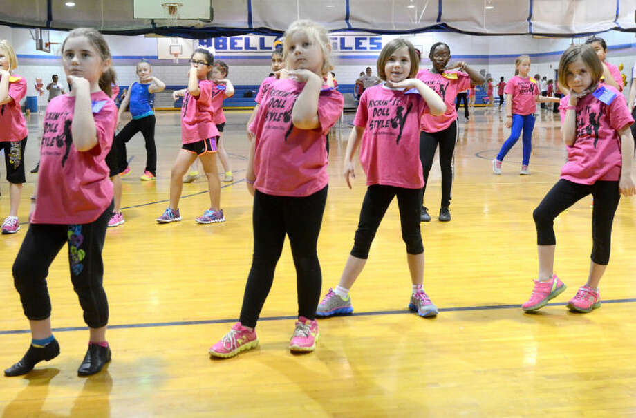 """Dolls for a Day"" dance clinic hosted by the Lee High Dixie Dolls on Saturday at Abell Junior High. James Durbin/Reporter-Telegram Photo: JAMES DURBIN"