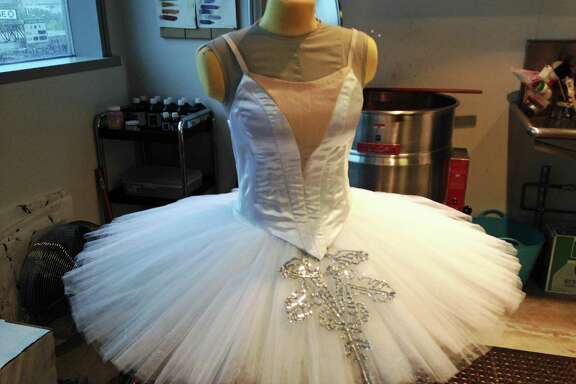 """An early design includes appliqués that will embellish the tutus of the """"Nutcracker"""" Snowflakes."""