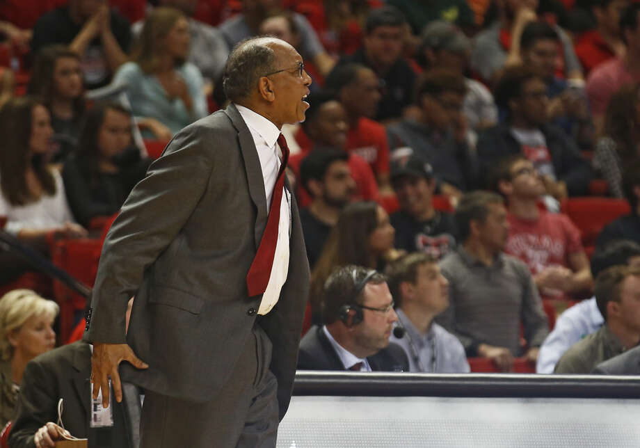Texas Tech coach Tubby Smith yells at the referees during an NCAA game against Kansas State on Saturday, March 5, 2016, in Lubbock. (Brad Tollefson/Lubbock Avalanche-Journal via AP) Photo: Brad Tollefson