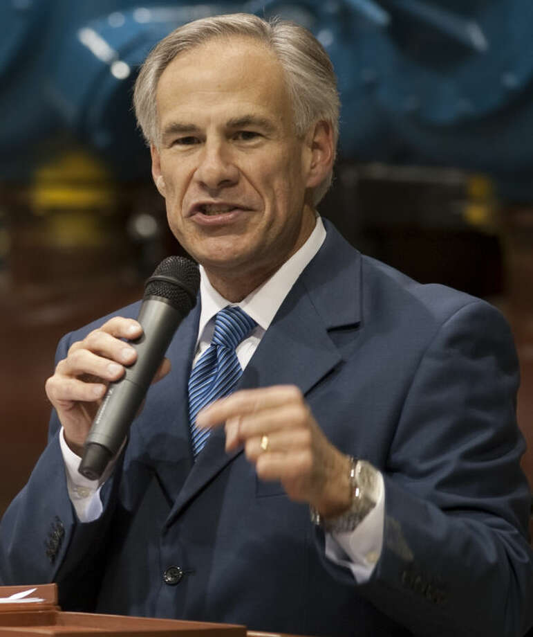 Texas AG Greg Abbott speaks Thursday at Compressor Systems, during a campaign stop for his run for Texas governor. Tim Fischer\Reporter-Telegram Photo: Tim Fischer