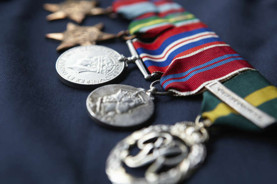 This file photo shows a display of military medals.  Photo: Monkeybusinessimages