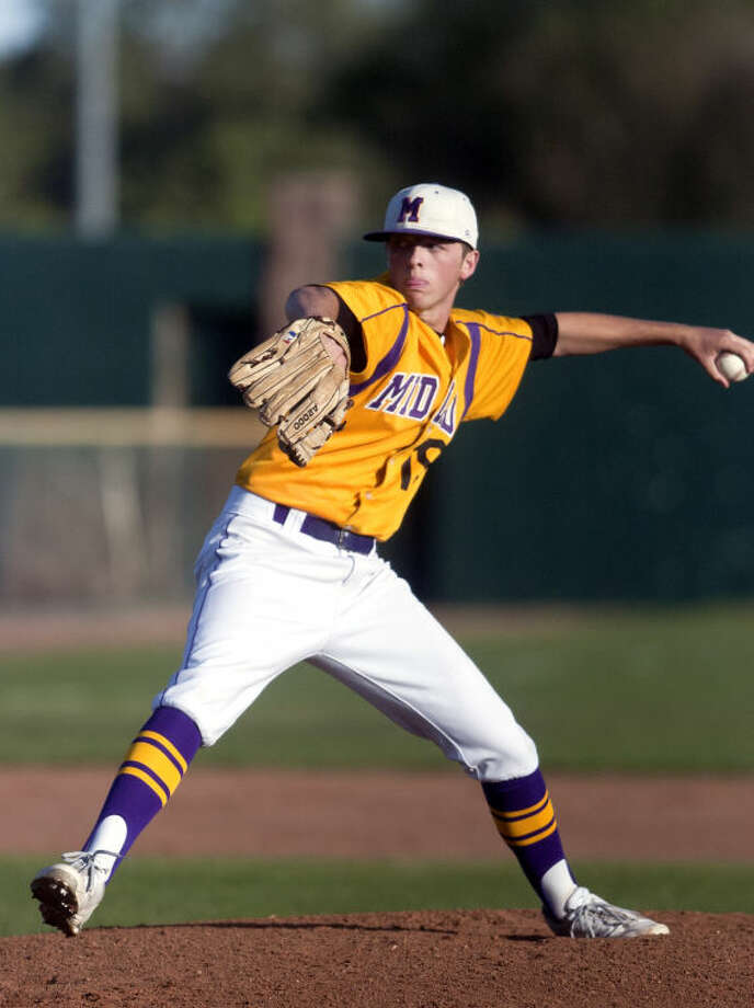 Midland High junior Jackson Lancaster was a 2-5A first team pitcher. James Durbin/Reporter-Telegram Photo: JAMES DURBIN