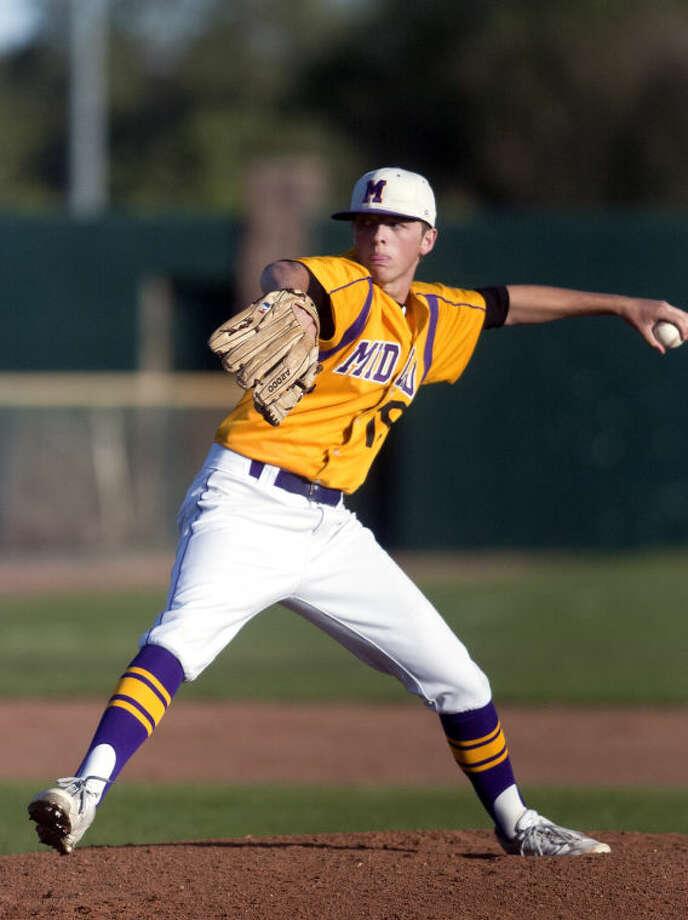 Midland High junior Jackson Lancaster was a 2-5A first team pitcher. James Durbin/Reporter-Telegram Photo: JAMES DURBIN