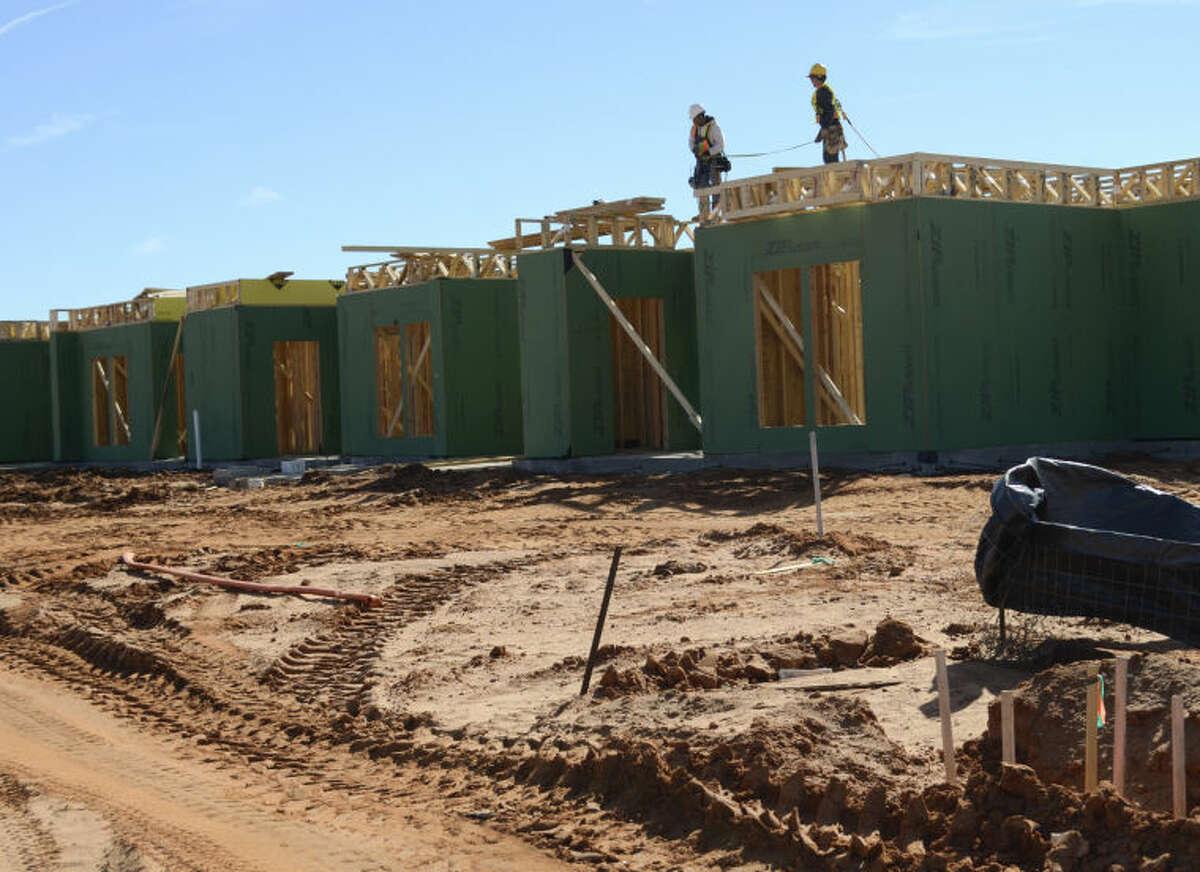 Work has started on the Sandstone Ridge Apartments in the Fasken subdivision. Tim Fischer\Reporter-Telegram