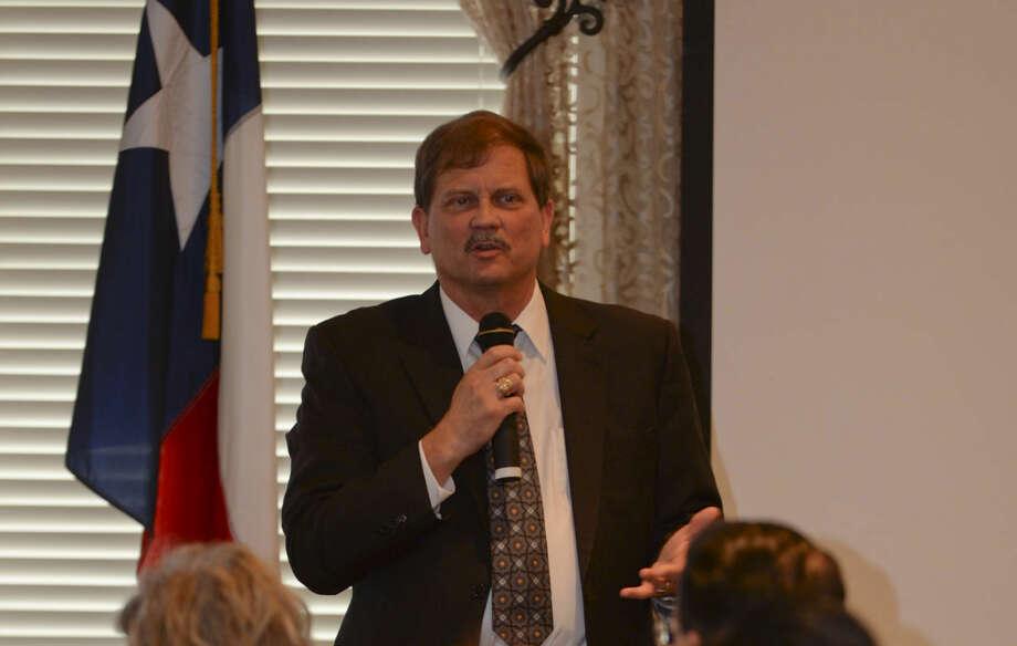 Texas GOP Chairman Tom Mechler speaks Wednesday 03-09-16 at the Midland County Republican Women's luncheon. Tim Fischer\Reporter-Telegram Photo: Tim Fischer