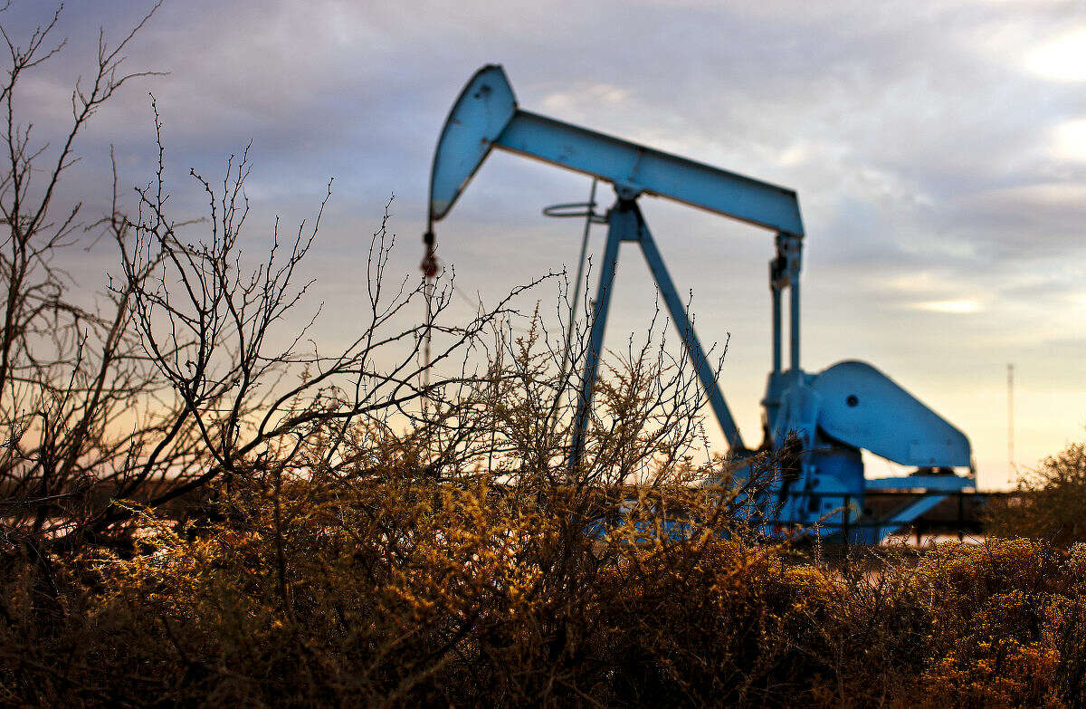 Oil pumpjack located near Highway 349 and County Road 3200 in Martin County photographed Wednesday, Feb. 24, 2016. James Durbin/Reporter-Telegram