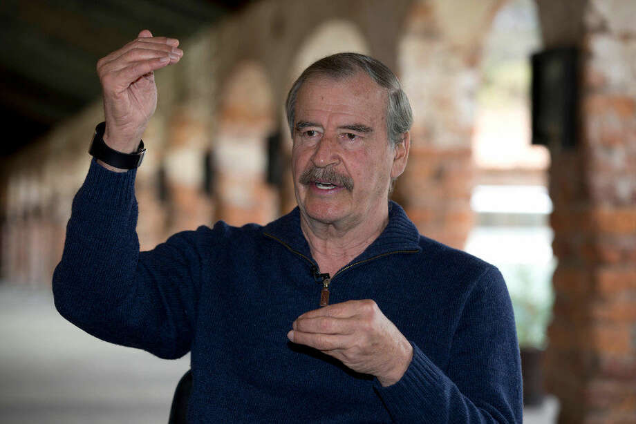 "Former Mexican President Mexico Vicente Fox gives an interview at the ""Fox Center,"" an academic facility focused on free enterprise in San Cristobal, Mexico, Wednesday, March 9, 2016. Fox said that a Donald Trump presidency could lead Mexico and the U.S. to a trade war that would hurt both countries. (AP Photo/Eduardo Verdugo) Photo: (AP Photo/Eduardo Verdugo)"