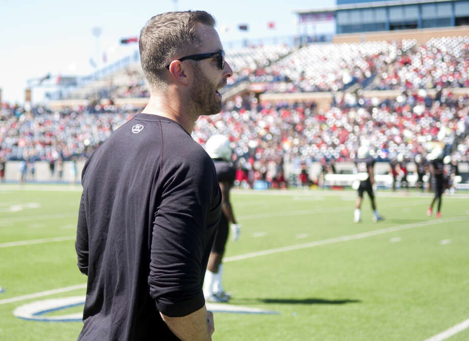 Texas Tech head coach Kliff Kingsbury during the spring scrimmage on Saturday, March 28, 2015, at Grande Communications Stadium. James Durbin/Reporter-Telegram Photo: James Durbin