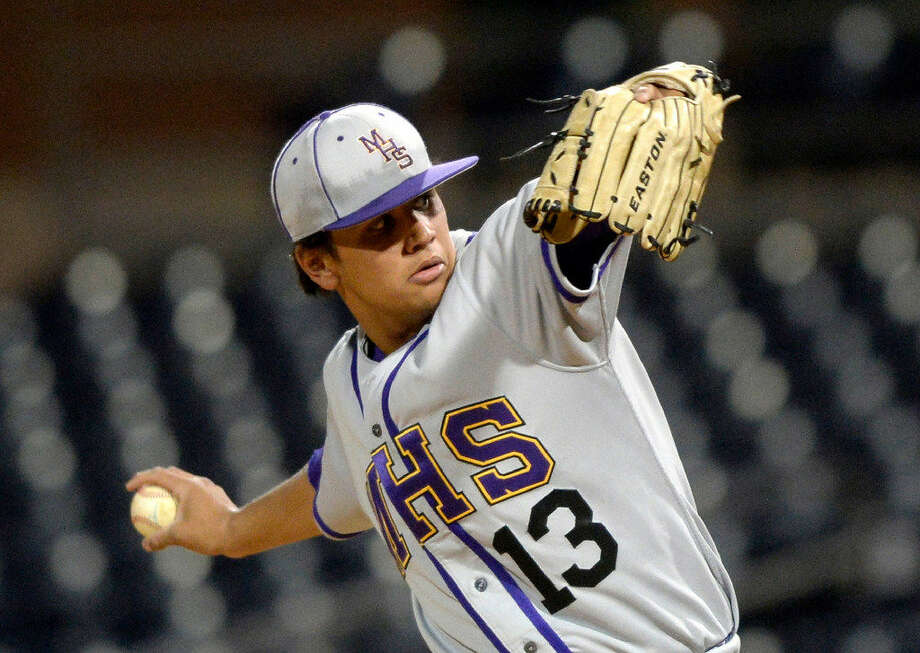 Midland's Jacob Mata pitches against Lee on Thursday, March 3, 2016 in the Tournament of Champions at Security Bank Ballpark. James Durbin/Reporter-Telegram Photo: James Durbin/Reporter-Telegram