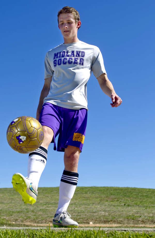 Midland High boys soccer captain Brody Sherman in portrait Tuesday, March 24, 2015 at Grande Communications Stadium. James Durbin/Reporter-Telegram Photo: James Durbin