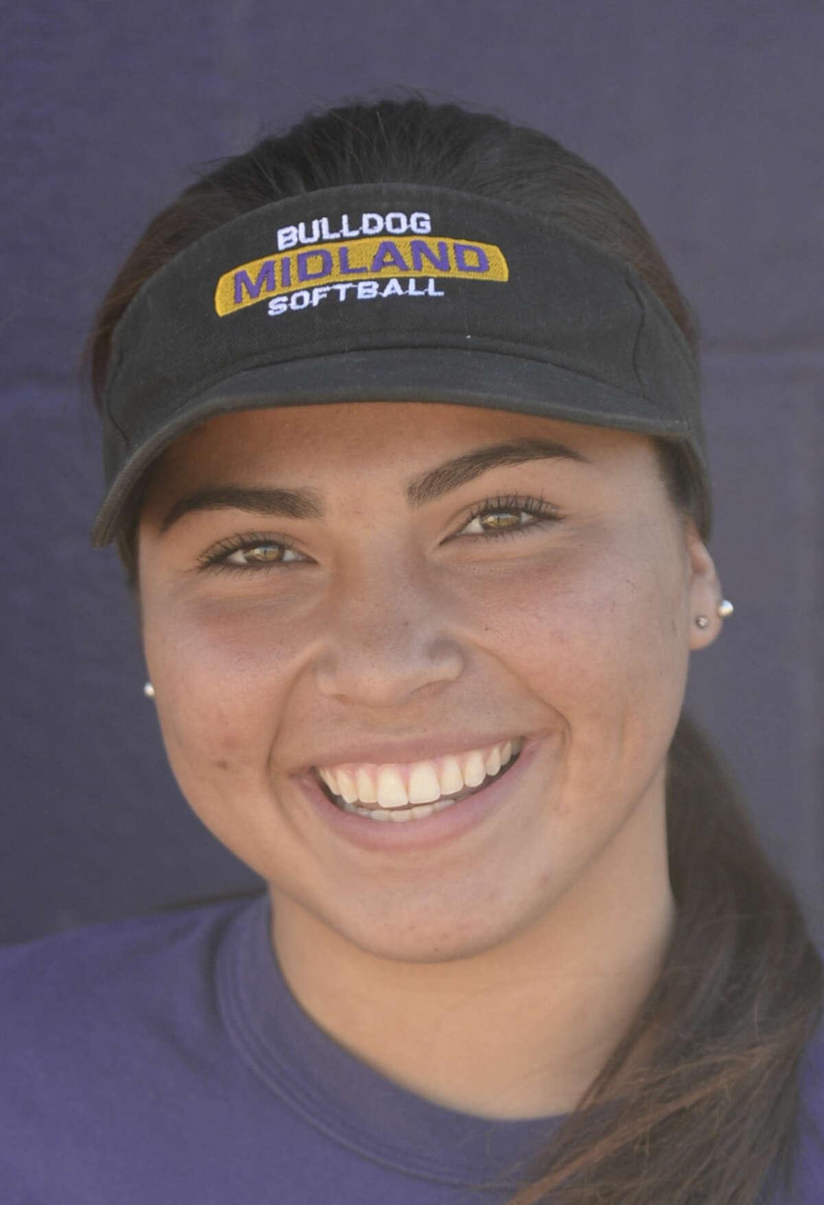 Midland High softball mugs 2016 - Natalie Gamboa (18) James Durbin/Reporter-Telegram