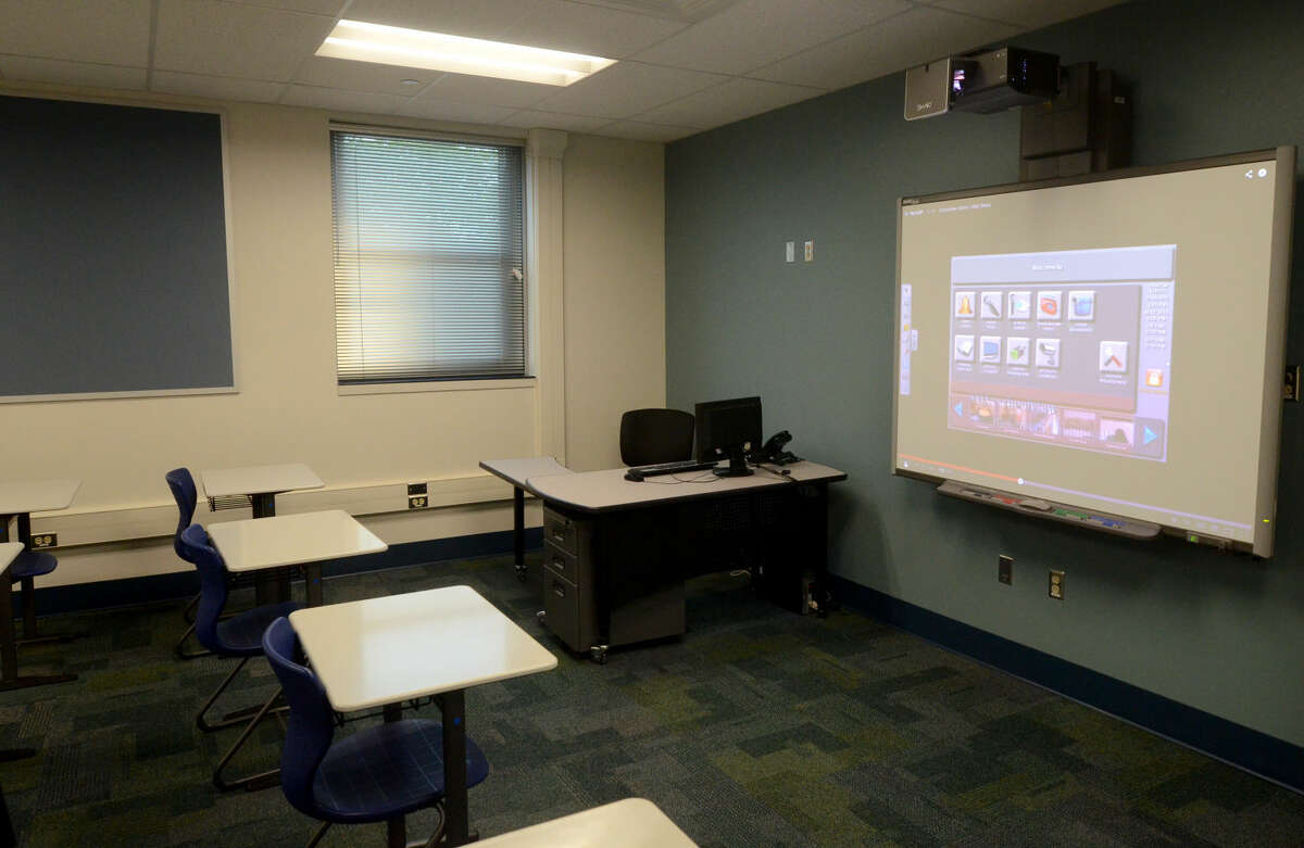 Tour of renovations and security features at MISD's West Campus on Wednesday. James Durbin/Reporter-Telegram