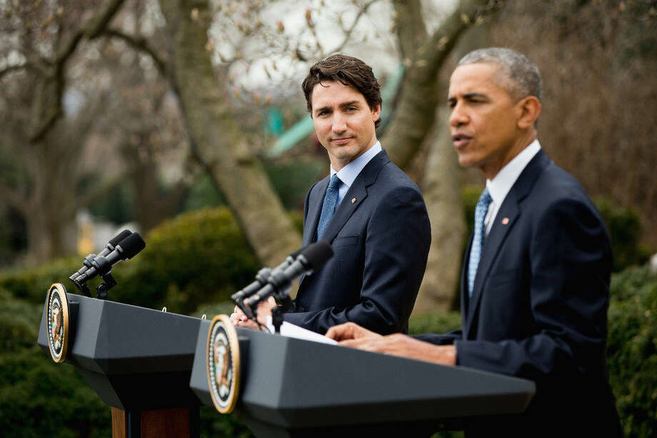 President Barack Obama and Canadian Prime Minister Justin Trudeau participate in a bilateral news conference in the Rose Garden of the White House in Washington, Thursday, March 10, 2016. (AP Photo/Andrew Harnik) Photo: (AP Photo/Andrew Harnik)