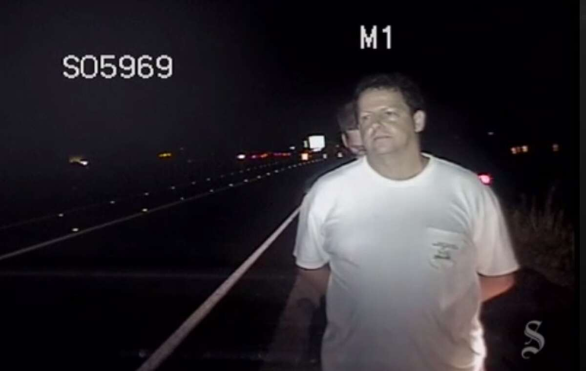 Dashcam video showing Hays County judge, David Glicker, being arrested for DWI charges on May 26, 2015.