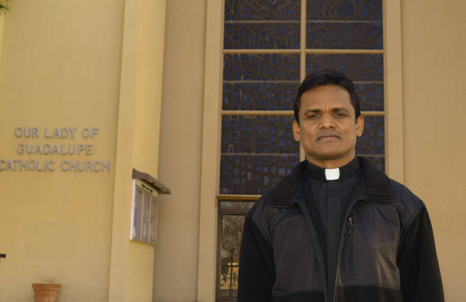 "Father Arogya Swamy Lakkineni ""Father Swamy"" is new priest at Our Lady of Guadalupe Church. Tim Fischer\Reporter-Telegram Photo: Tim Fischer"