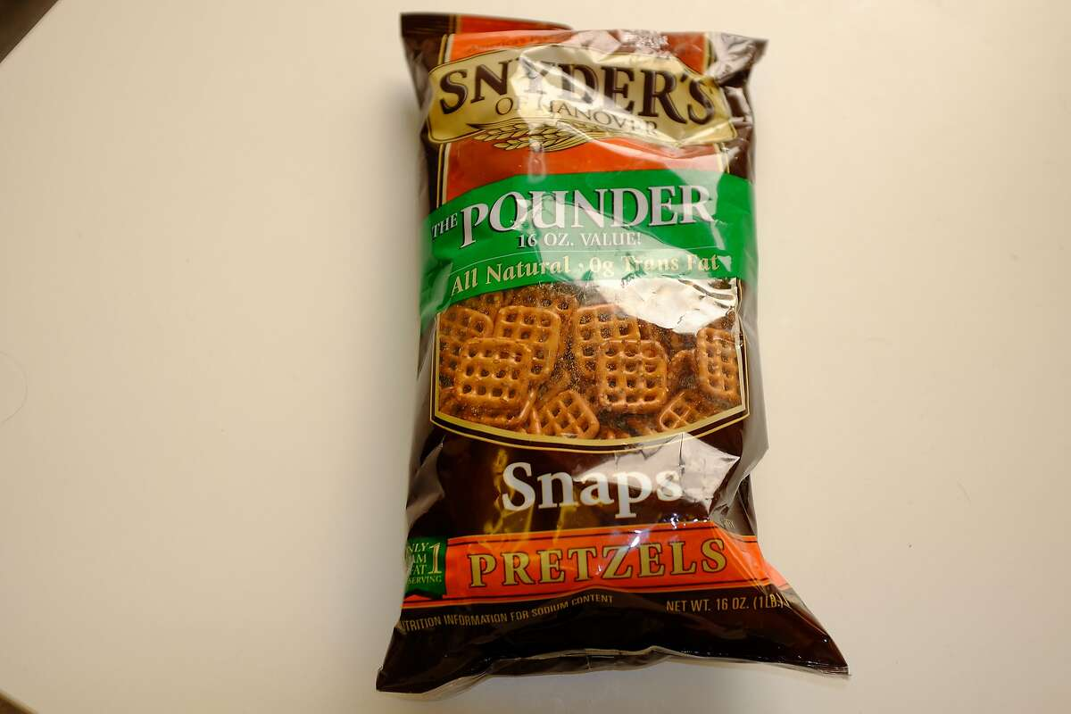 BEST - Snyder's pretzels. Sixteen ounces for a buck at the Dollar Store. How much are they at Target?