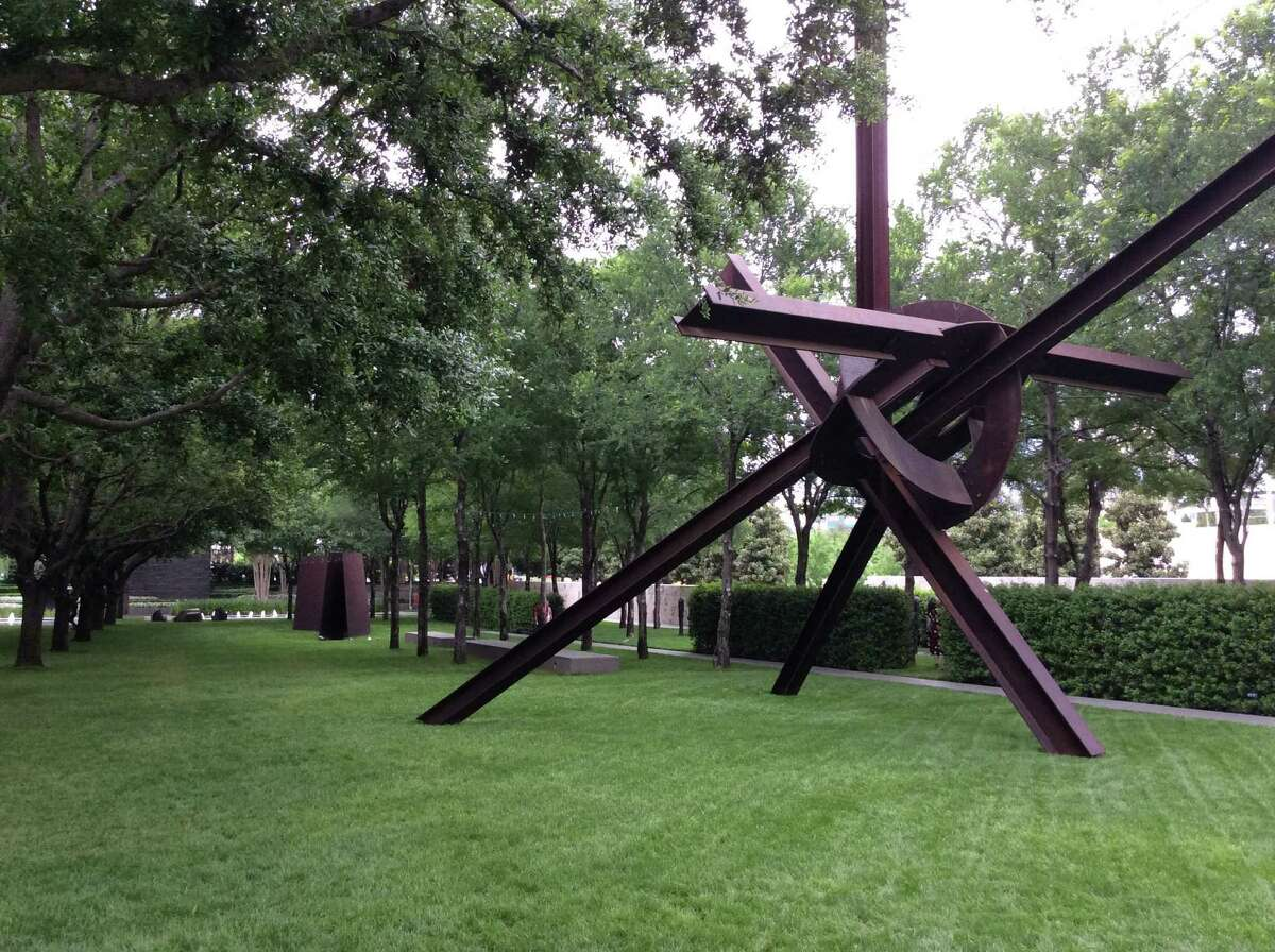 The Nasher Sculpture Center's sculpture garden is a peaceful green space in the heart of the Dallas arts district.