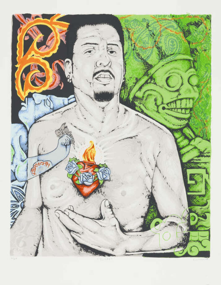 """Yolitzli"" 2009, screenprint, collection Serie Project Photo: Jesus ""Cimi"" Alvarado"