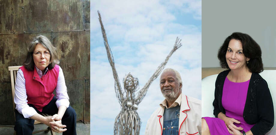 The Art League  Houston has named Terrell James, left, as its Texas artist of the year, Jesse Lott earned the league's lifetime achievement award and Poppi Georges Massey was named Texas patron of the year.