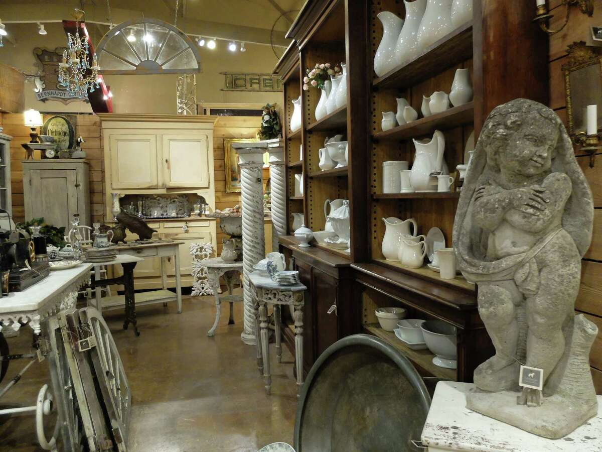 Antiques, linens, accessories, apothecary goods and comfy linen clothing are all in the mix at Leftovers in Brenham.