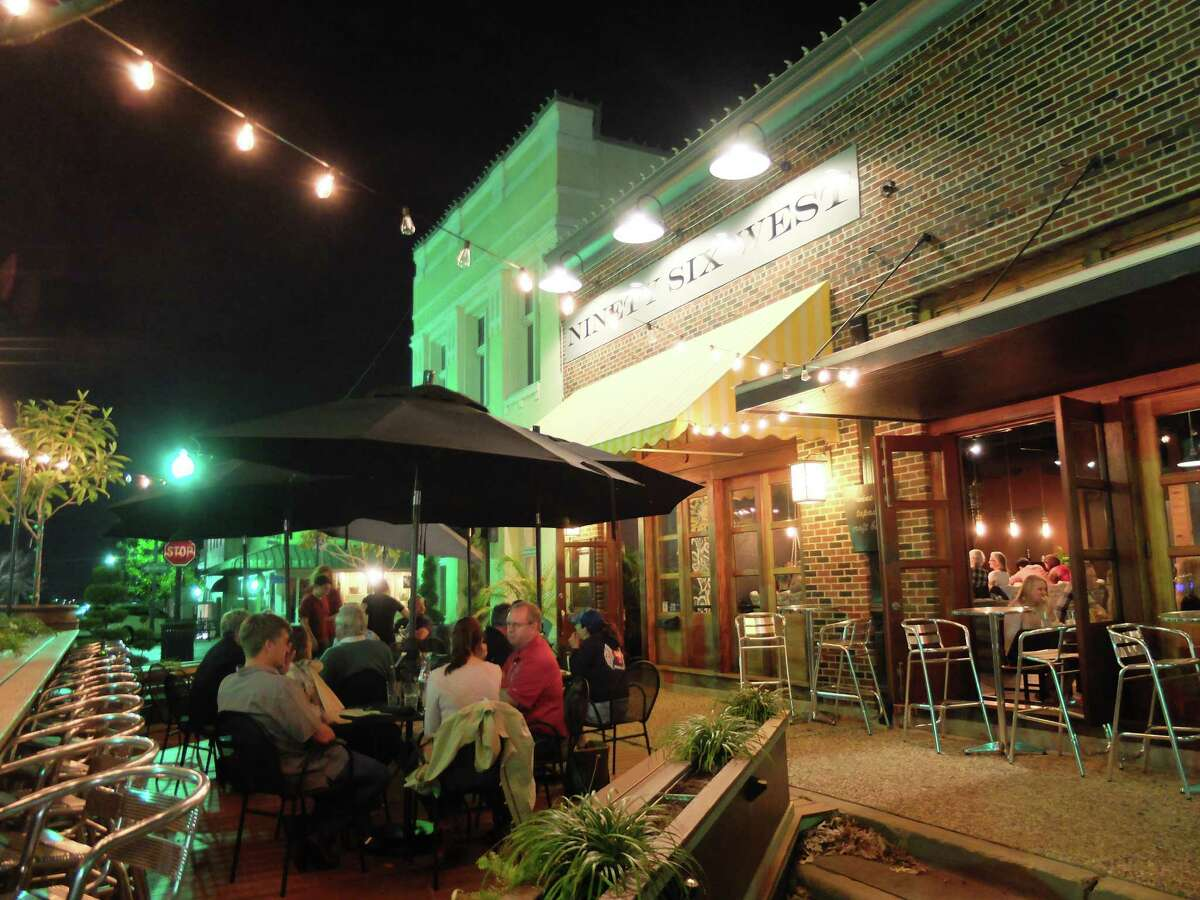 """Enjoy the country air outside on the """"parklet"""" at 96 West, which serves excellent tapas. Brenham's new downtown eatery is a see-and-be-seen place on weekends."""