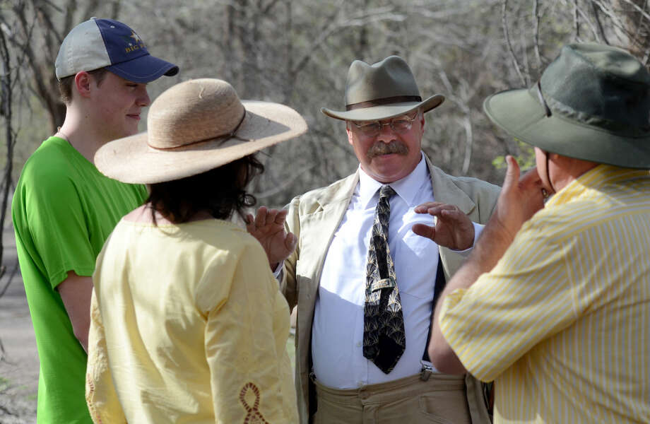 Joe Wiegand travels the country portraying himself as Teddy Roosevelt. Wednesday, March 25, 2015, he stopped at the I-20 Wildlife Preserve to meet Midlanders and talk about conservation and history. James Durbin/Reporter-Telegram Photo: James Durbin