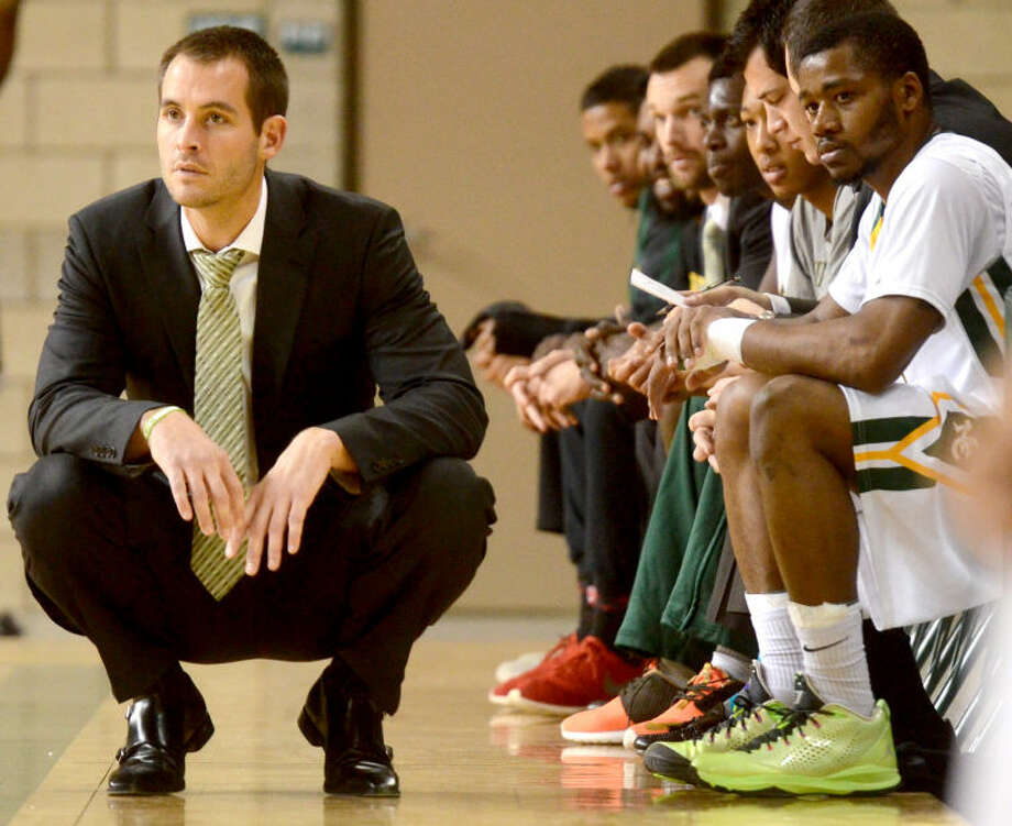Midland College men's basketball head coach Jordan Dreiling looks on during the game against Odessa College on Thursday at Chaparral Center. James Durbin/Reporter-Telegram Photo: JAMES DURBIN