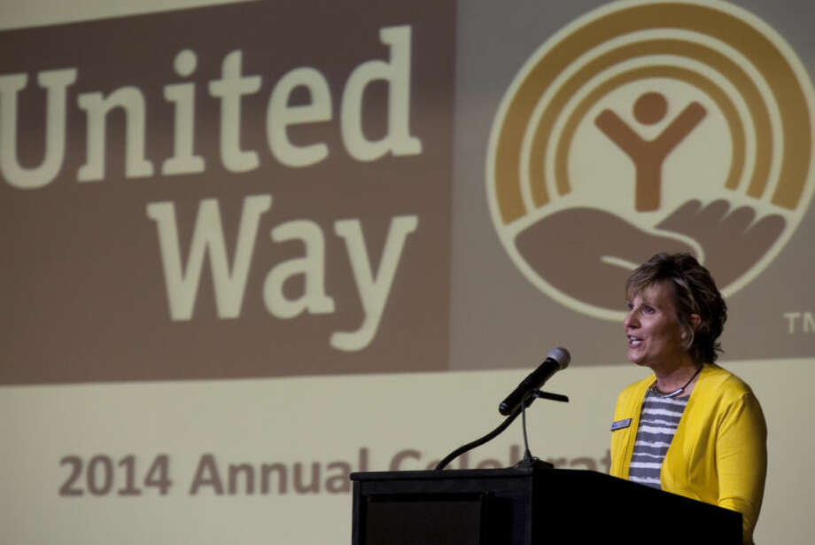 United Way of Midland executive director Donna Mahurin thanks everyone for their support at the annual celebration Wednesday after surpassing their fundraising goal for 2013. Tim Fischer\Reporter-Telegram Photo: Tim Fischer