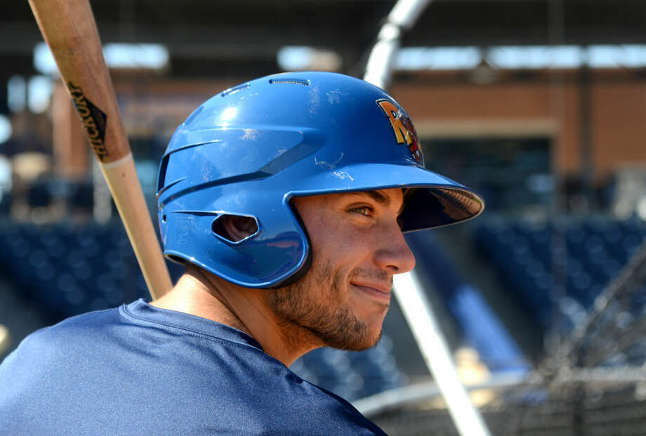 Rockhounds top prospect Matt Olson hits the batting cage during RockHounds Media Day on Tuesday, April 7, 2015, at Security Bank Ballpark. James Durbin/Reporter-Telegram Photo: James Durbin