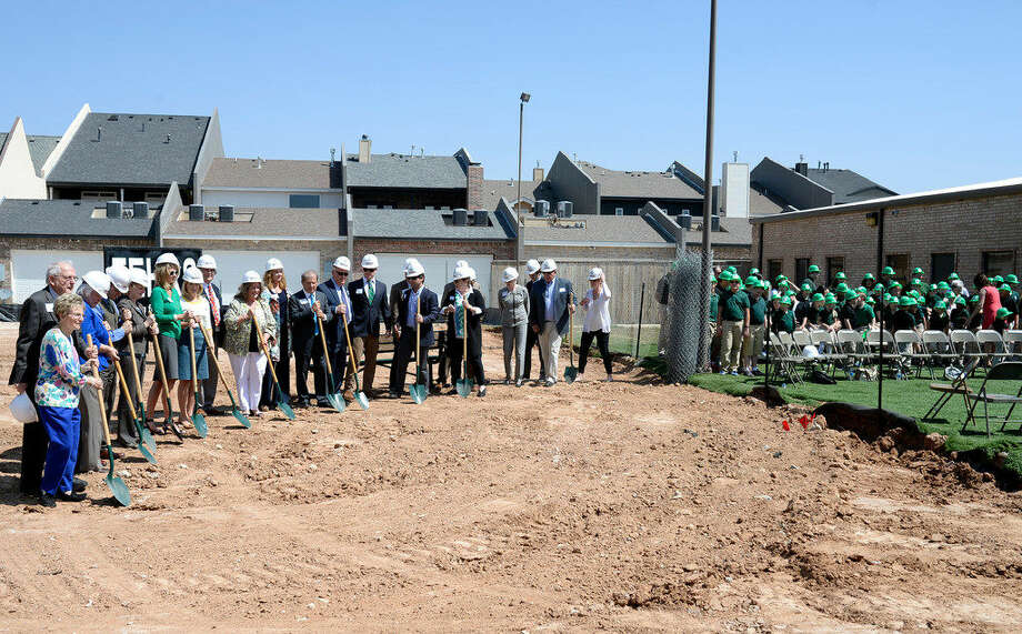 Donors, friends and family of theHillcrestSchool gathered Thursday, March 17, 2016, to break ground on the school's new expansion. James Durbin/Reporter-Telegram Photo:  James Durbin/Reporter-Telegram