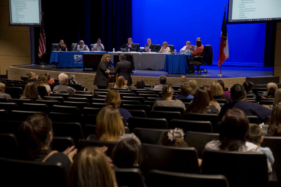 Midland ISD School Board members meet Monday 03-21-16 in the new auditorium at Bowie Fine Arts Academy. Tim Fischer\Reporter-Telegram Photo: Tim Fischer