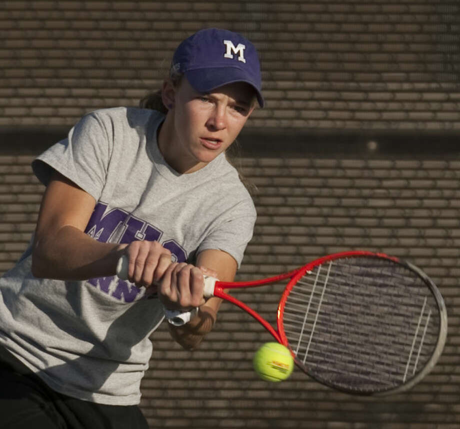 Midland High's Kate Daugherty returns a shot Friday at the Tall City Tennis Invite at the Bush Tennis Center. Tim Fischer\Reporter-Telegram Photo: Tim Fischer