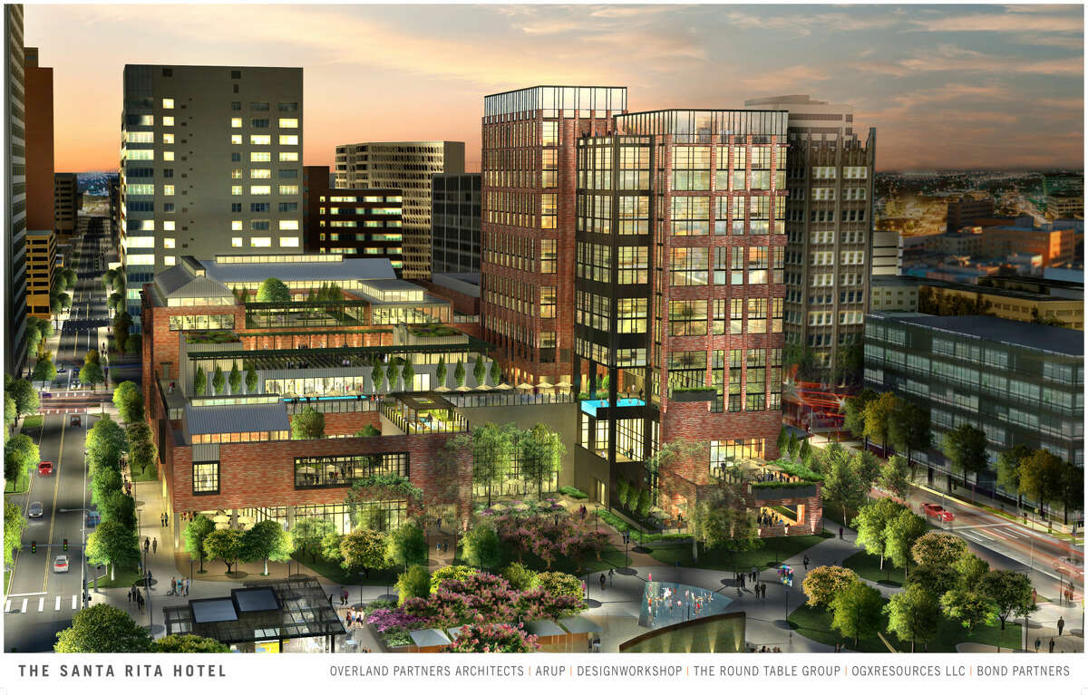 Overland Partners presented this rendering of the proposed Hotel Santa Rita to City Council in March