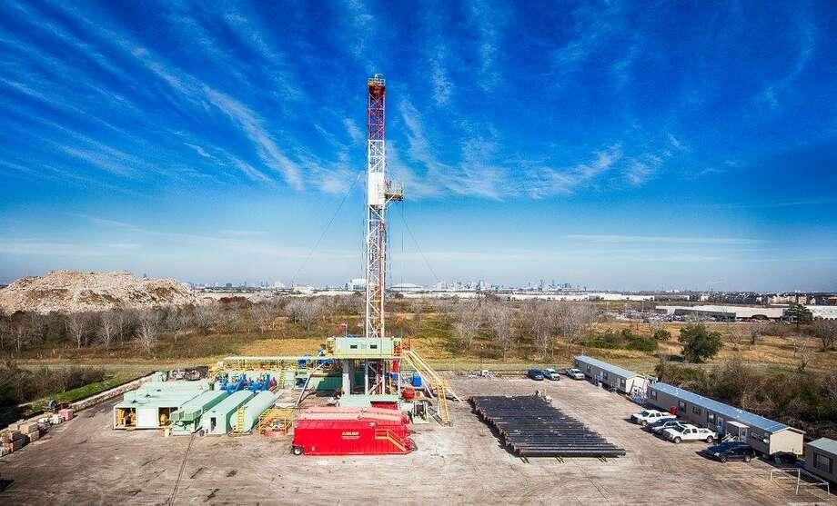 A rig operating atFairwayEnergyPartners' Houston oil storage project.