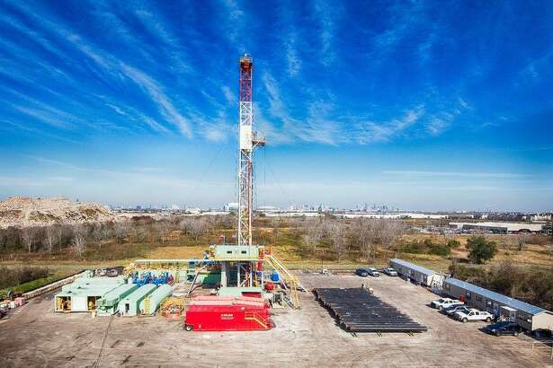 A rig operating at  Fairway    Energy  Partners' Houston oil storage project.